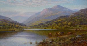 Highland Landscape with Cattle Image