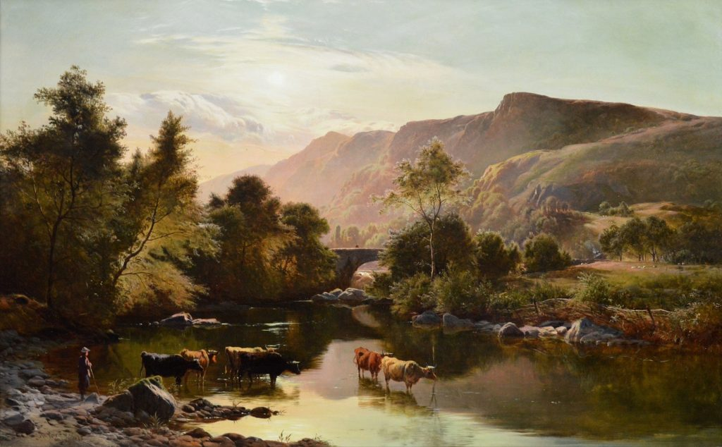 Near Betws-y-Coed, North Wales - 19th Century Landscape Oil Painting Image
