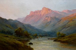 A Highland River, Evening Image
