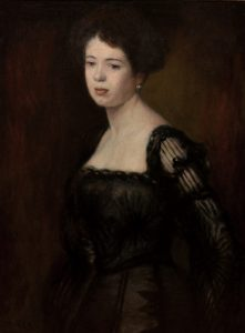 Young Beauty in a Black Gown Image