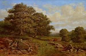 Bradgate Park, Leicestershire - 19th Century English Landscape Oil Painting Image