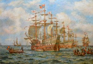 Embarkation of Henry VIII Image