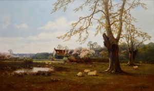 A Berkshire Homestead - 19th Century Landscape Oil Painting of English Countryside Image
