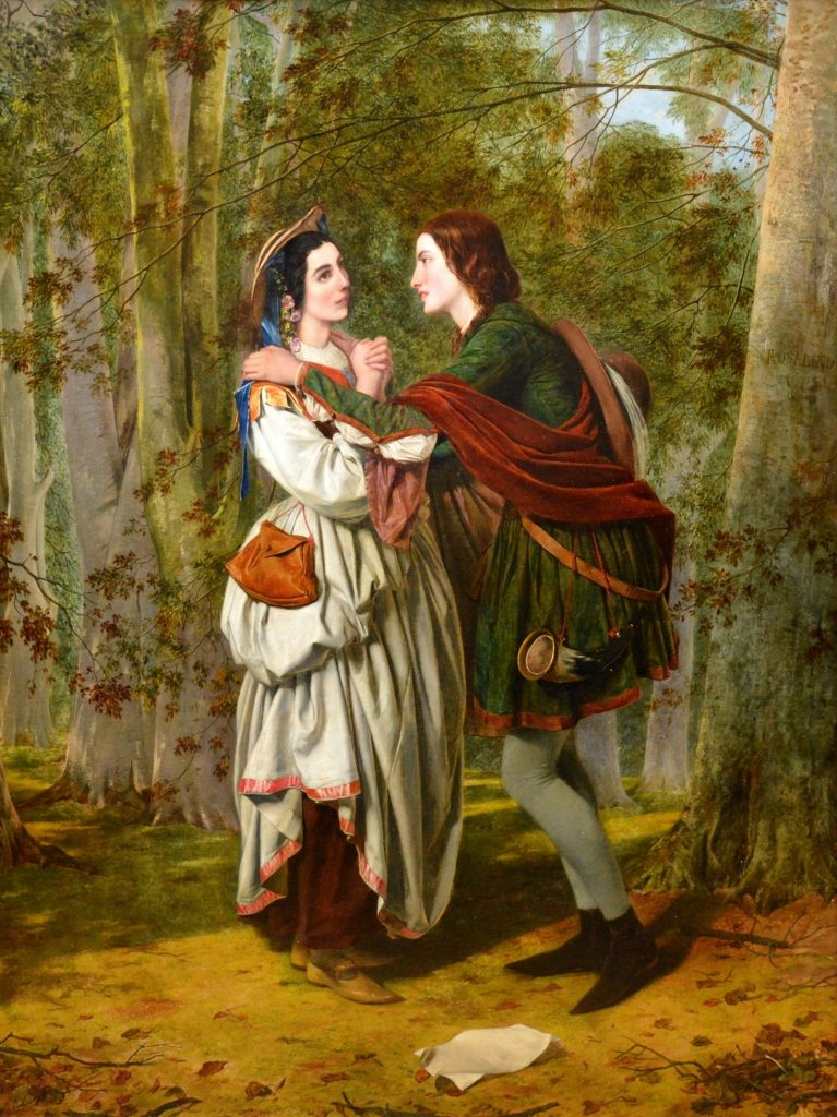 Rosalind & Celia, As You Like It - 19th Century Royal Academy Oil Painting of Shakespeare Scene Image