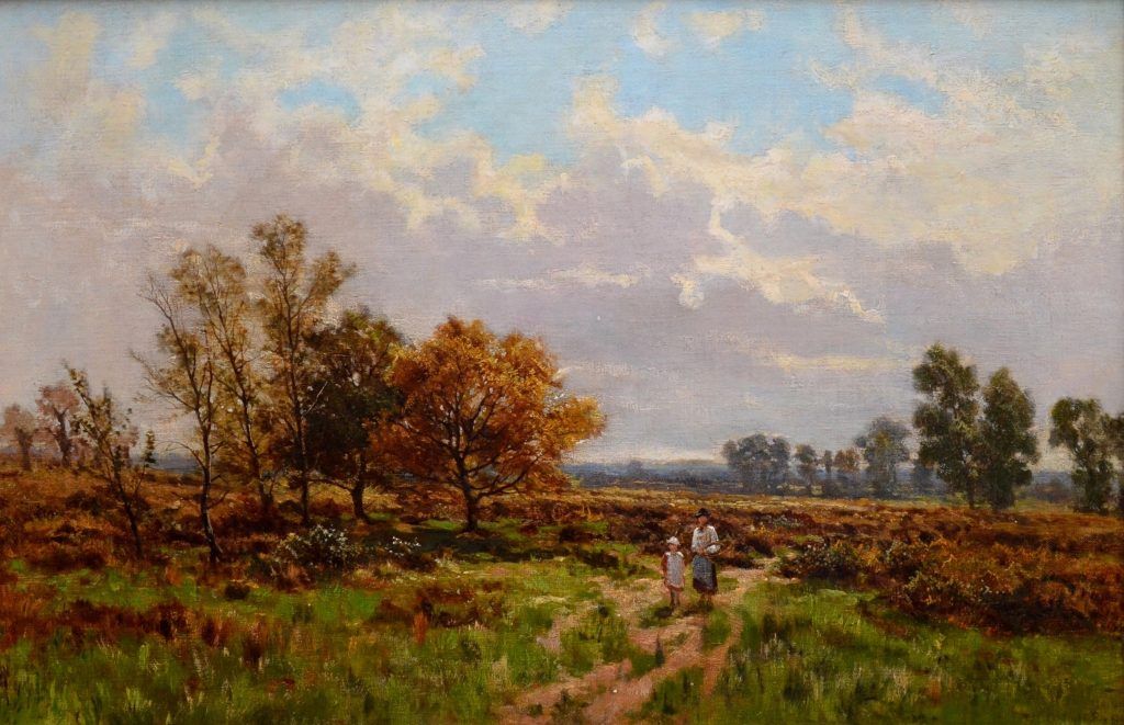 Near Stratford Upon Avon - 19th Century English Landscape Oil Painting of Shakespeare Country Image