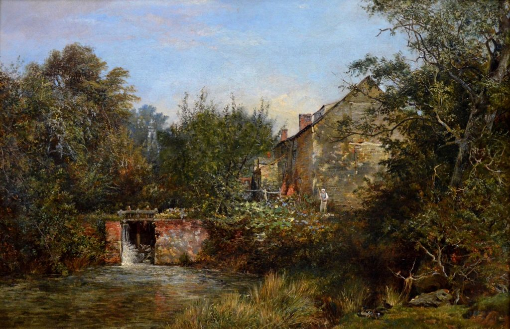 On the River Frome - 19th Century River Landscape Image