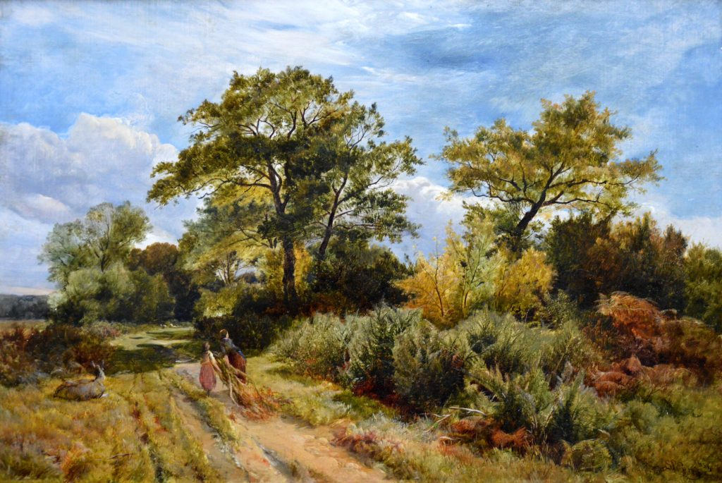 Furze Cutters - 19th Century English Landscape Oil Painting Image