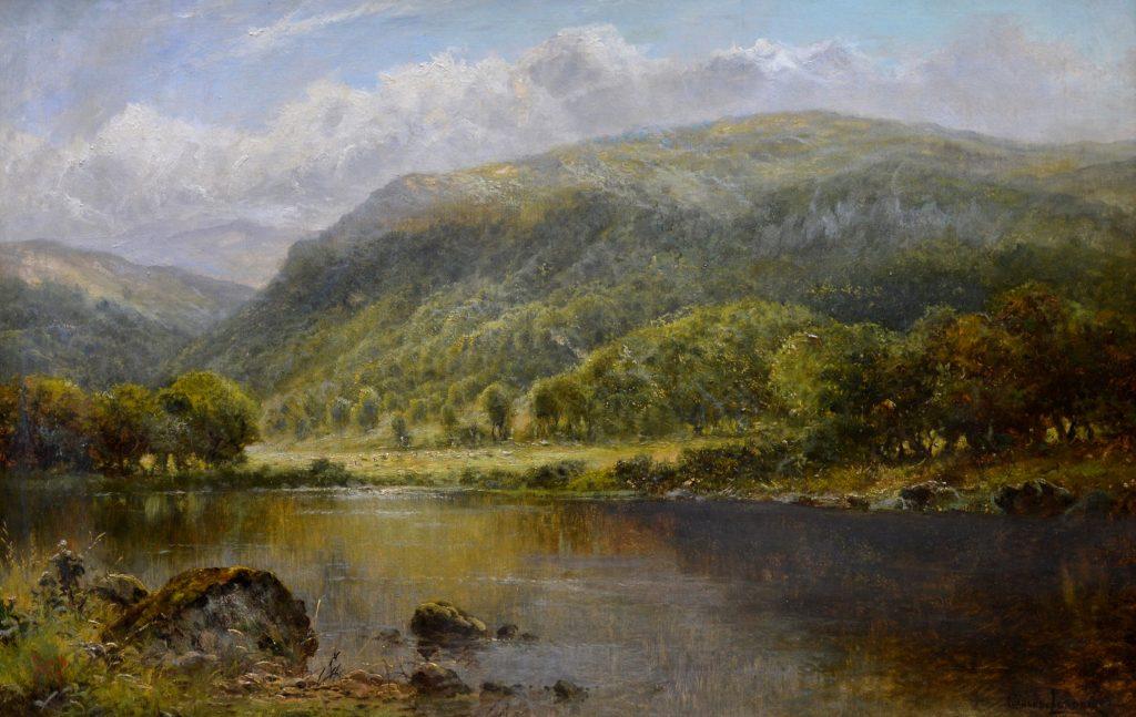 Loch Lomond - 19th Century Scottish Highland Landscape Oil Painting Image