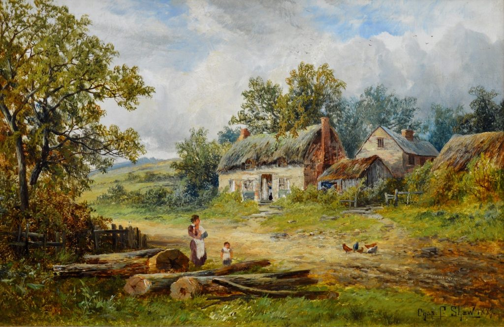 A Summer Afternoon - 19th Century English Landscape Oil Painting Image