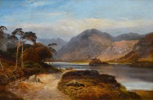 Loch Lomond - 19th Century Landscape Oil Painting of the Scottish Highlands Image