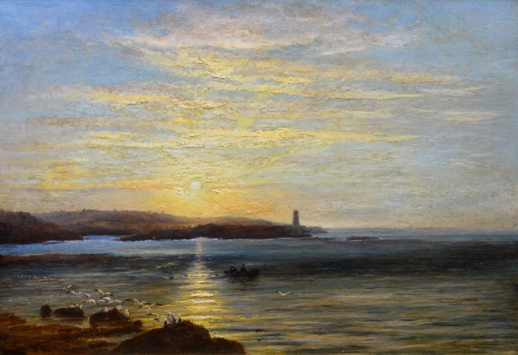 Sunset, Caernarfon Bay - 19th Century North Wales Summer Landscape Image