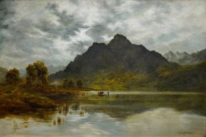 Twilight, Loch Ness - 19th Century Landscape Oil Painting of the Scottish Highlands Image