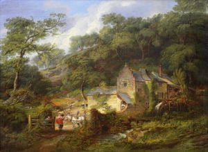 Berry Pomeroy Mill - 19th Century English Landscape Oil Painting Image