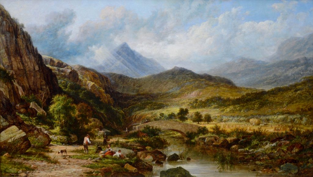 Snowdon in Summertime - 19th Century Welsh Mountain Landscape Image