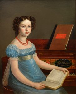 Emma Gisborne Clementi - 19th Century Portrait of Georgian Beauty at the Piano Image