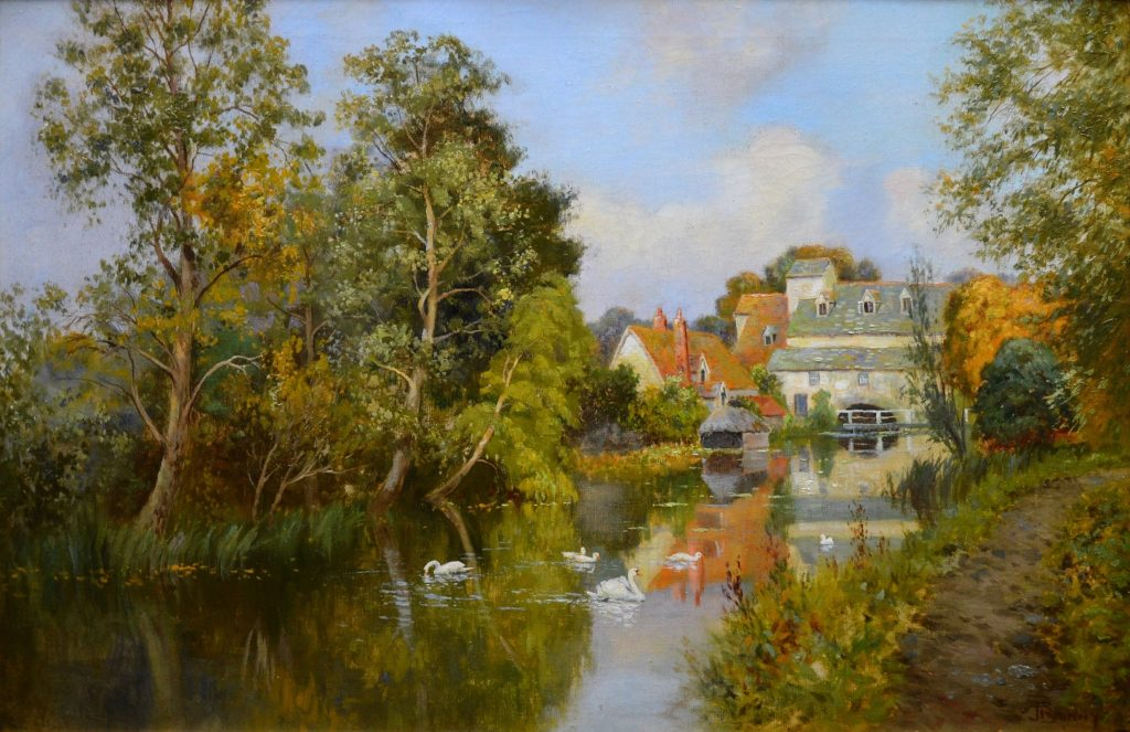 Flatford Mill - 19th Century Landscape Oil Painting - John Constable Country Image