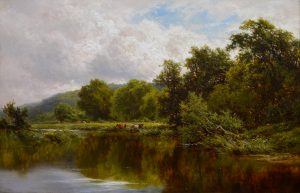 The River Thames - 19th Century English Landscape Oil Painting Image