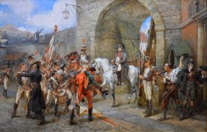 An Incident in the Peninsular War - 19th Century Oil Painting of Napoleon in Spain 1809 Image