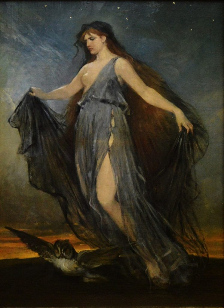 Minerva - 19th Century Portrait Oil Painting of Roman Goddess Image
