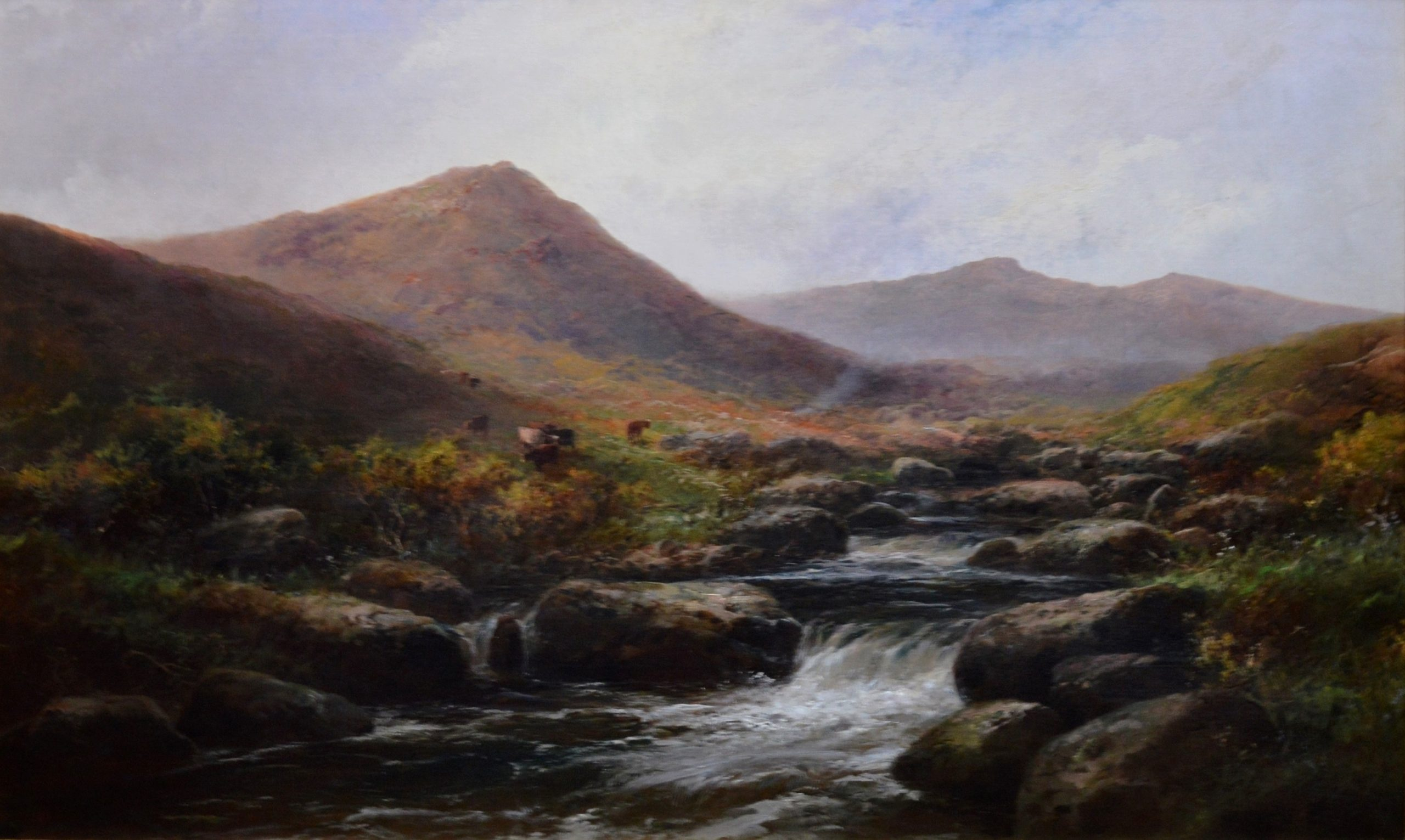 On the Tavy - 19th Century Landscape Oil Painting of Dartmoor Image