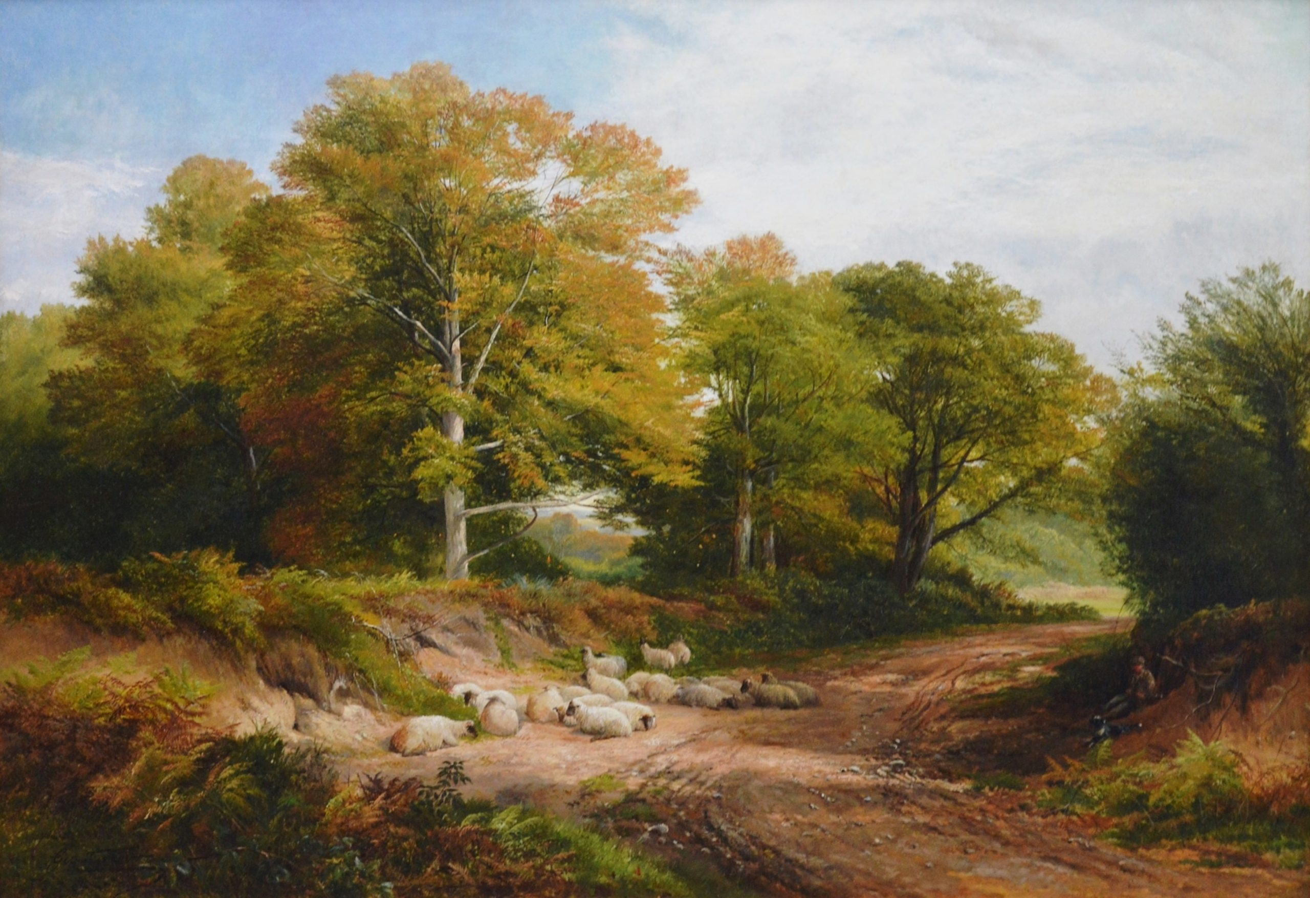 Froggatt, Derbyshire 1873 - 19th Century English Summer Landscape Oil Painting Image