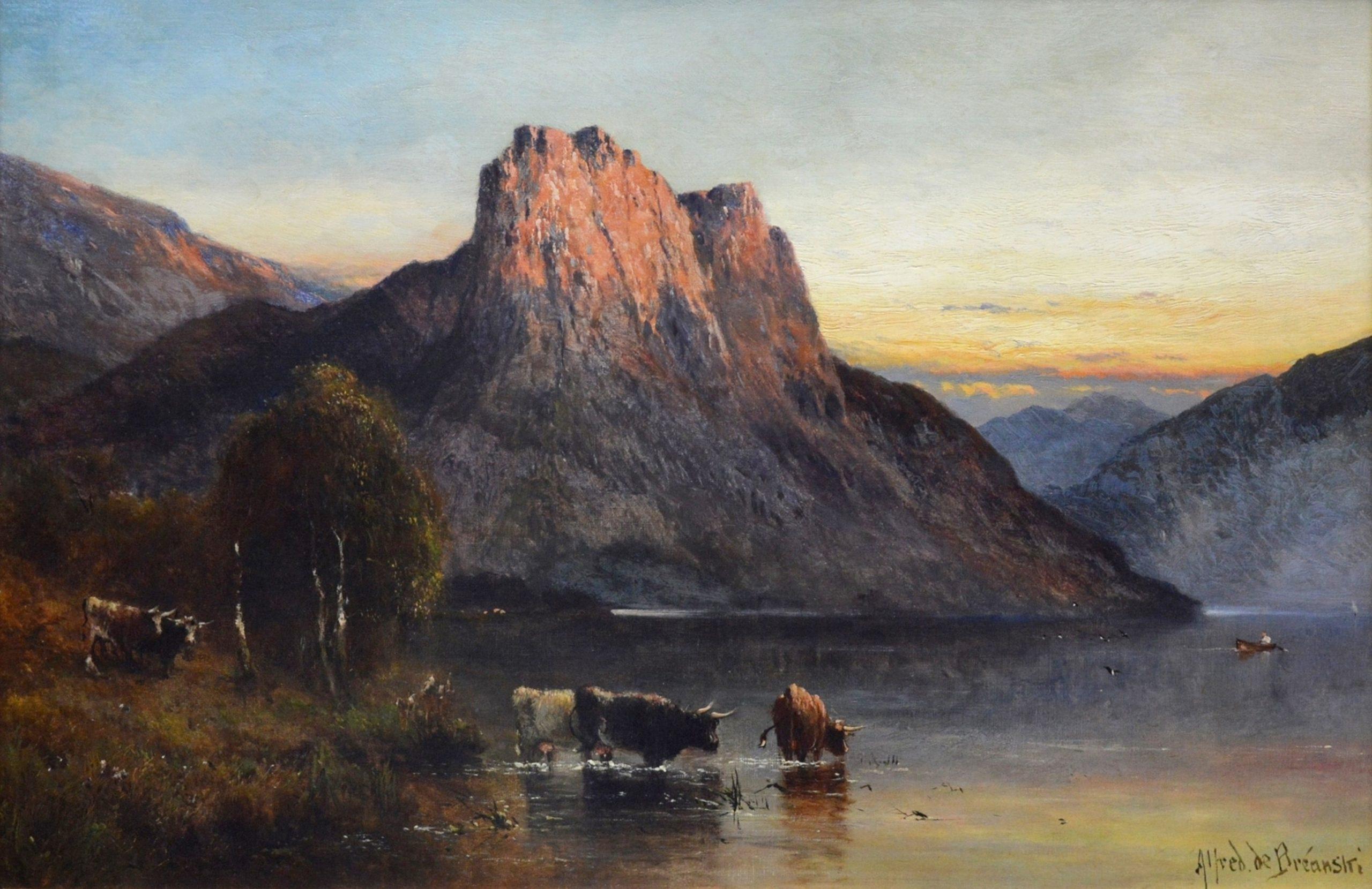 Falcon Craig, Derwentshire - 19th Century Landscape Oil Painting Image