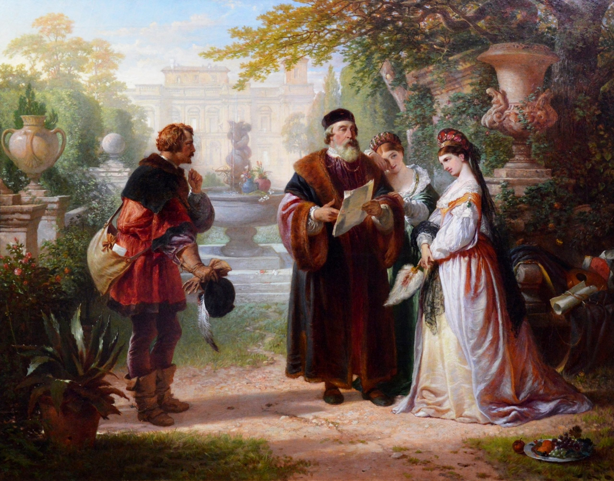 Katherine & Petruchio - 19th Century Oil Painting of Shakespeare