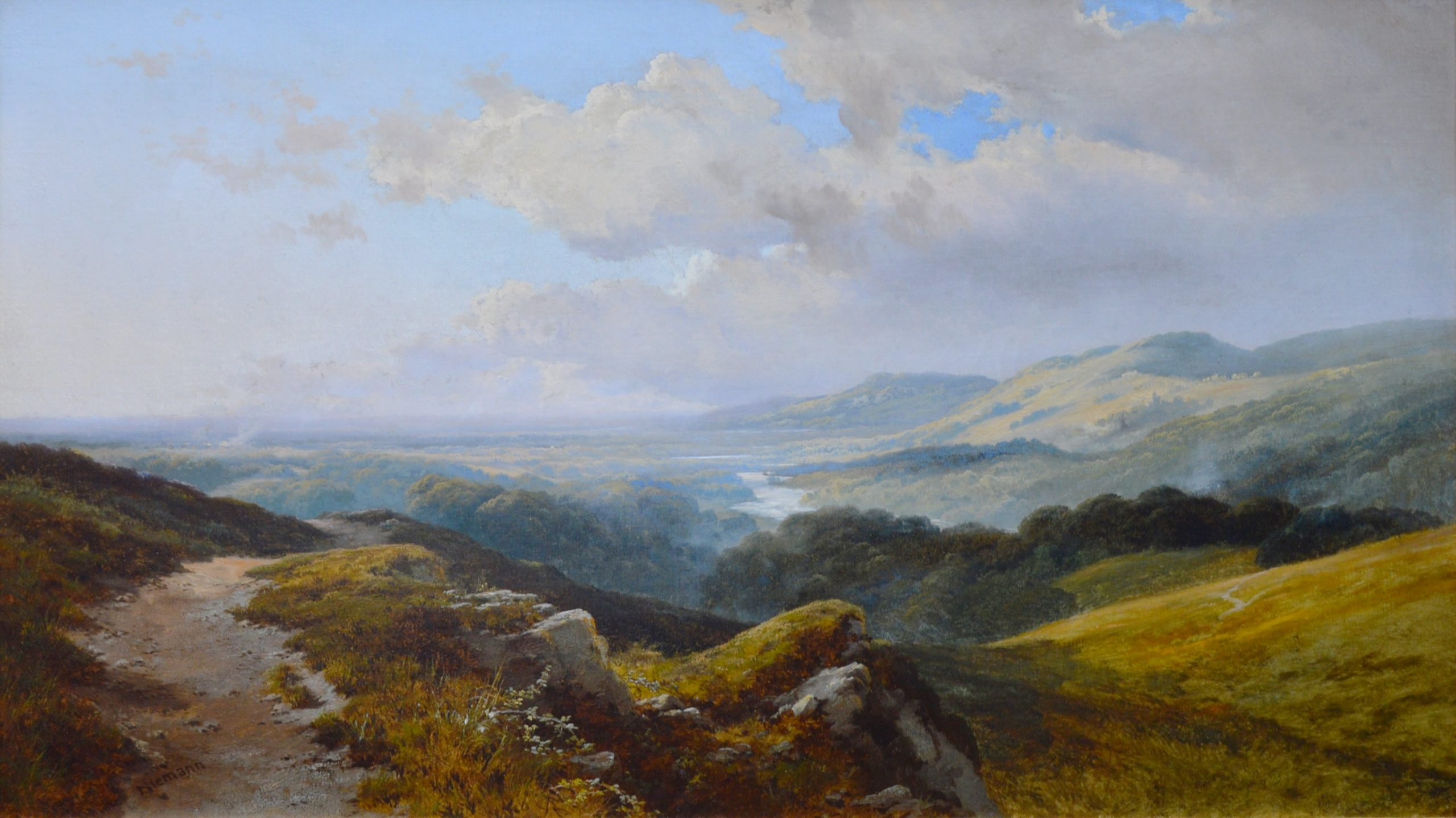 Wharfedale - 19th Century Summer Landscape of the Yorkshire Dales Image