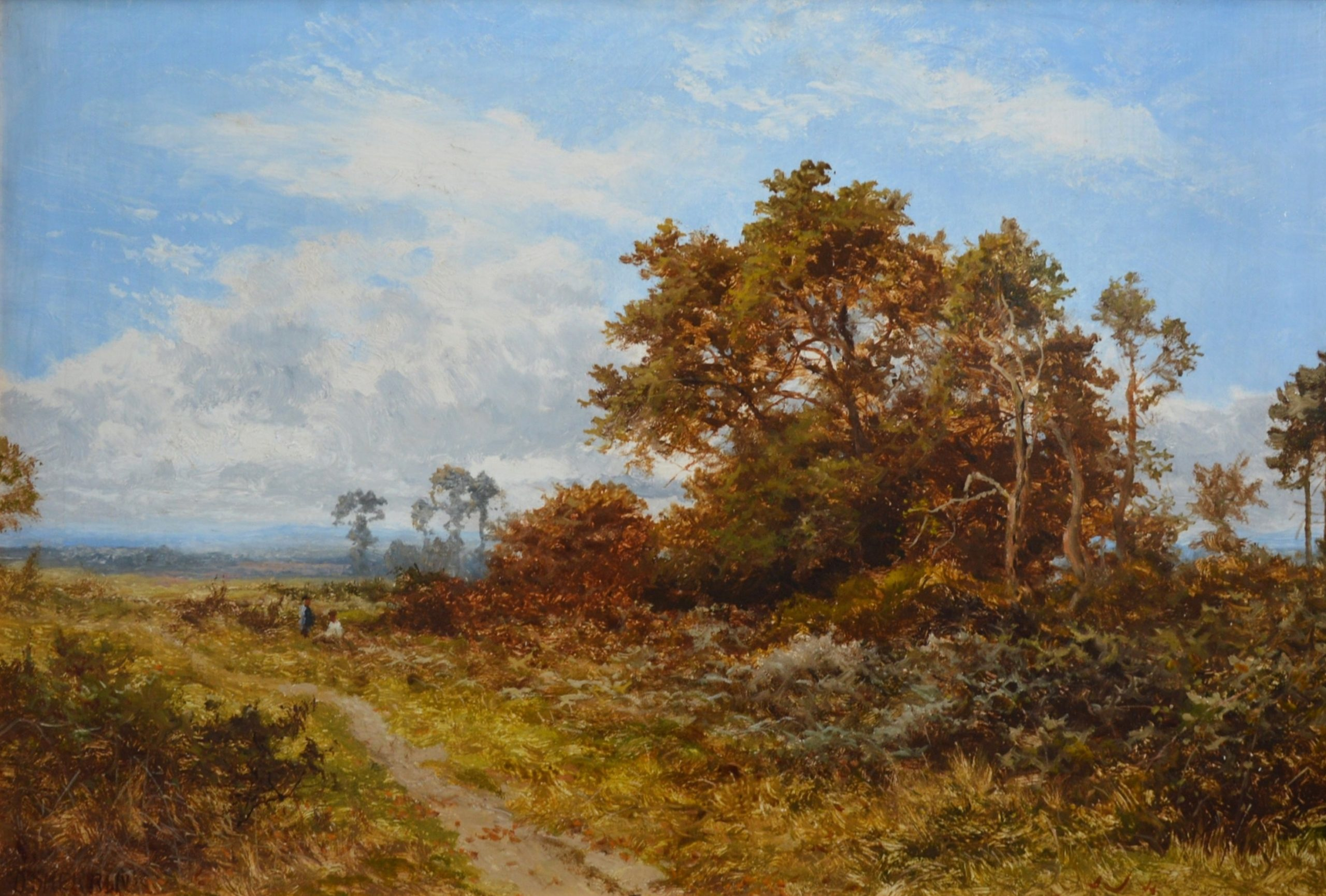 Blean Woods, Kent - 19th Century English Landscape Oil Painting Image