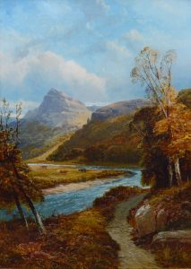On the River Dee - 19th Century Scottish Landscape Oil Painting Image