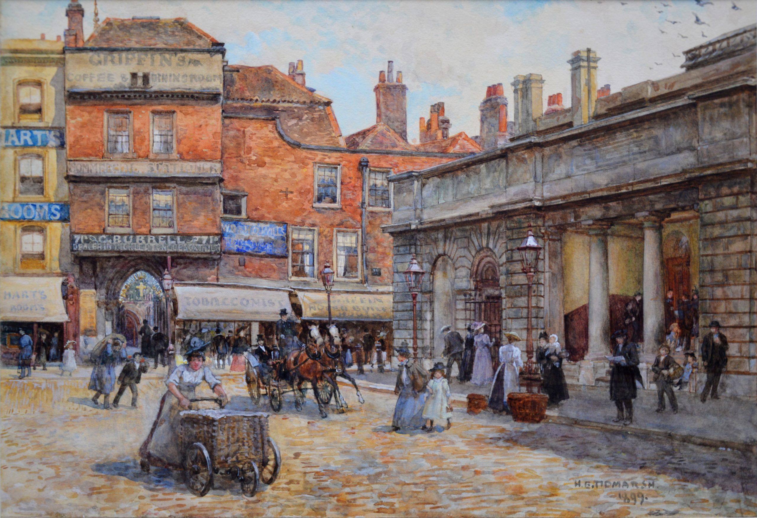 St Bartholomew's, Smithfield 1899 -19th Century London Landscape Image