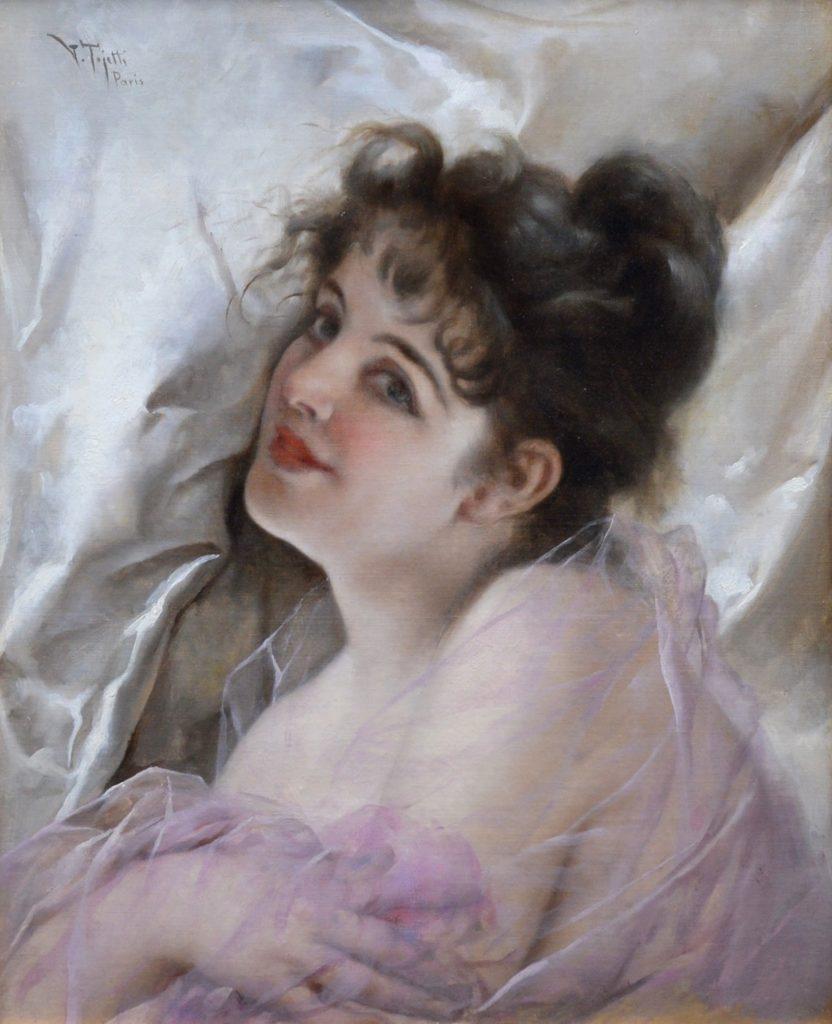 La Coquette - 19th Century French Belle Epoque Portrait of Parienne Girl Image