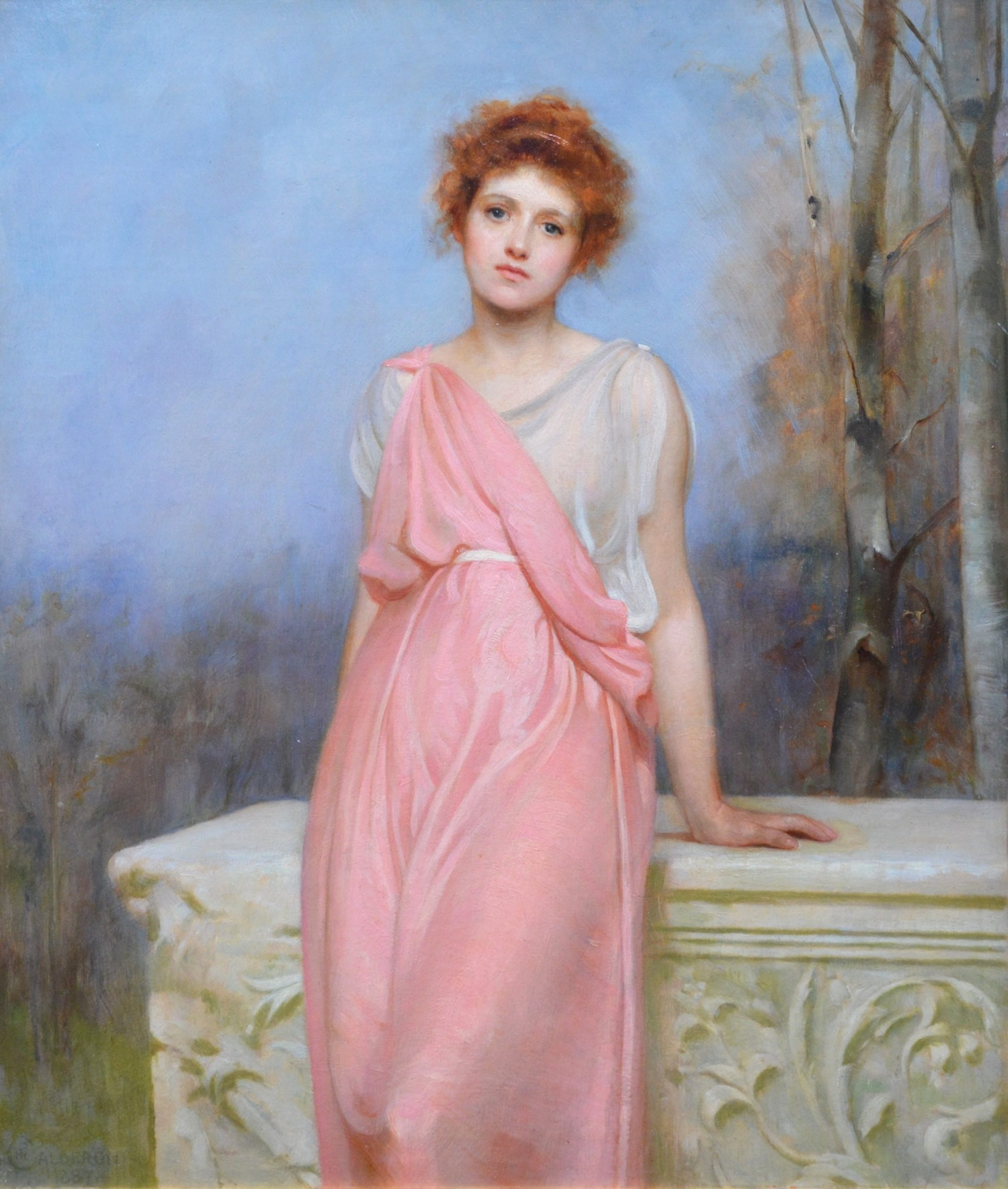 The Changer of Hearts - 19th Century Oil Painting Portrait of Roman Beauty Image