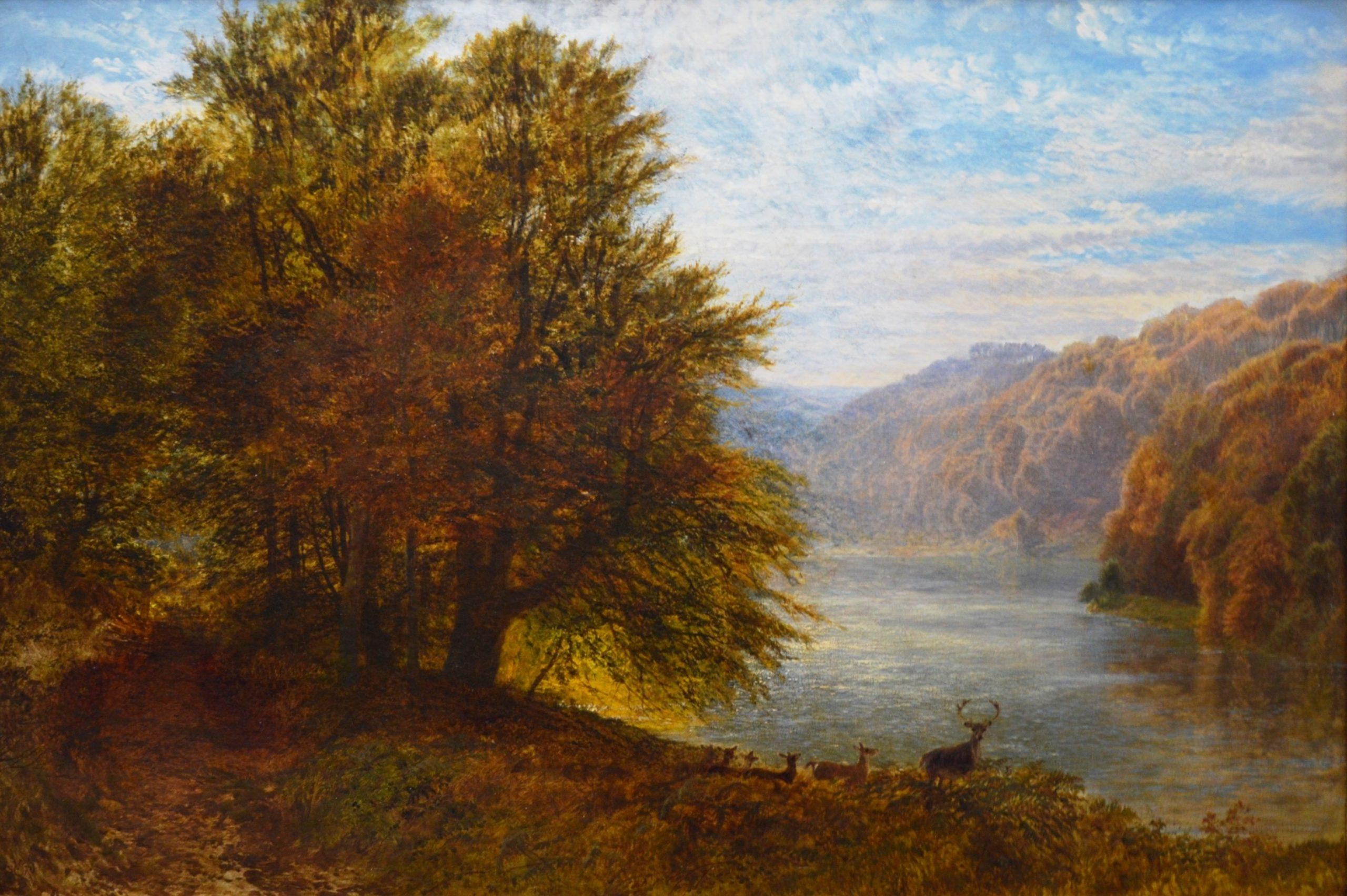 Sunshine Showers - 19th Century English Landscape Oil Painting Image