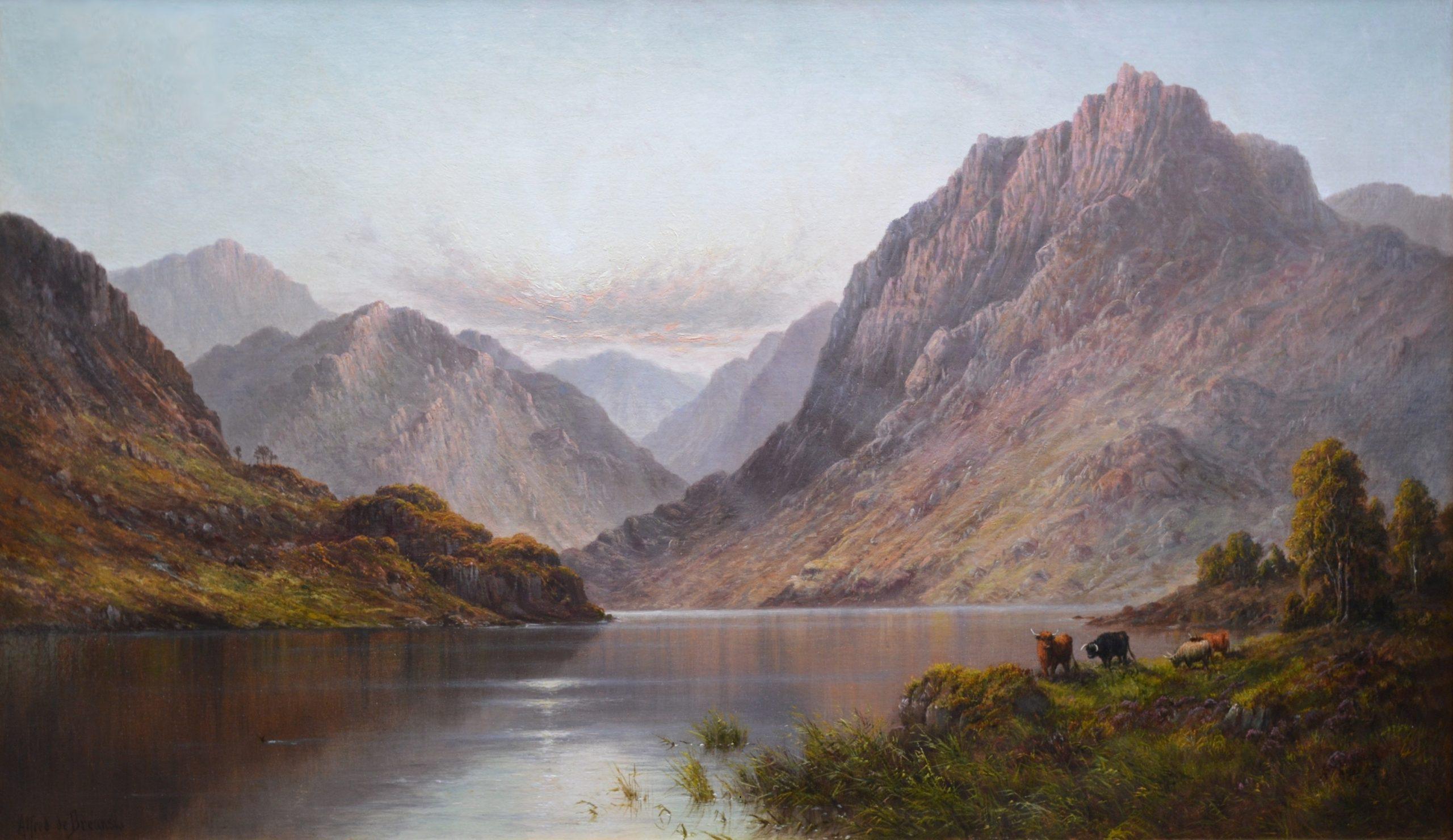 Loch Lomond - Large 19th Century Scottish Highlands Oil Painting Image