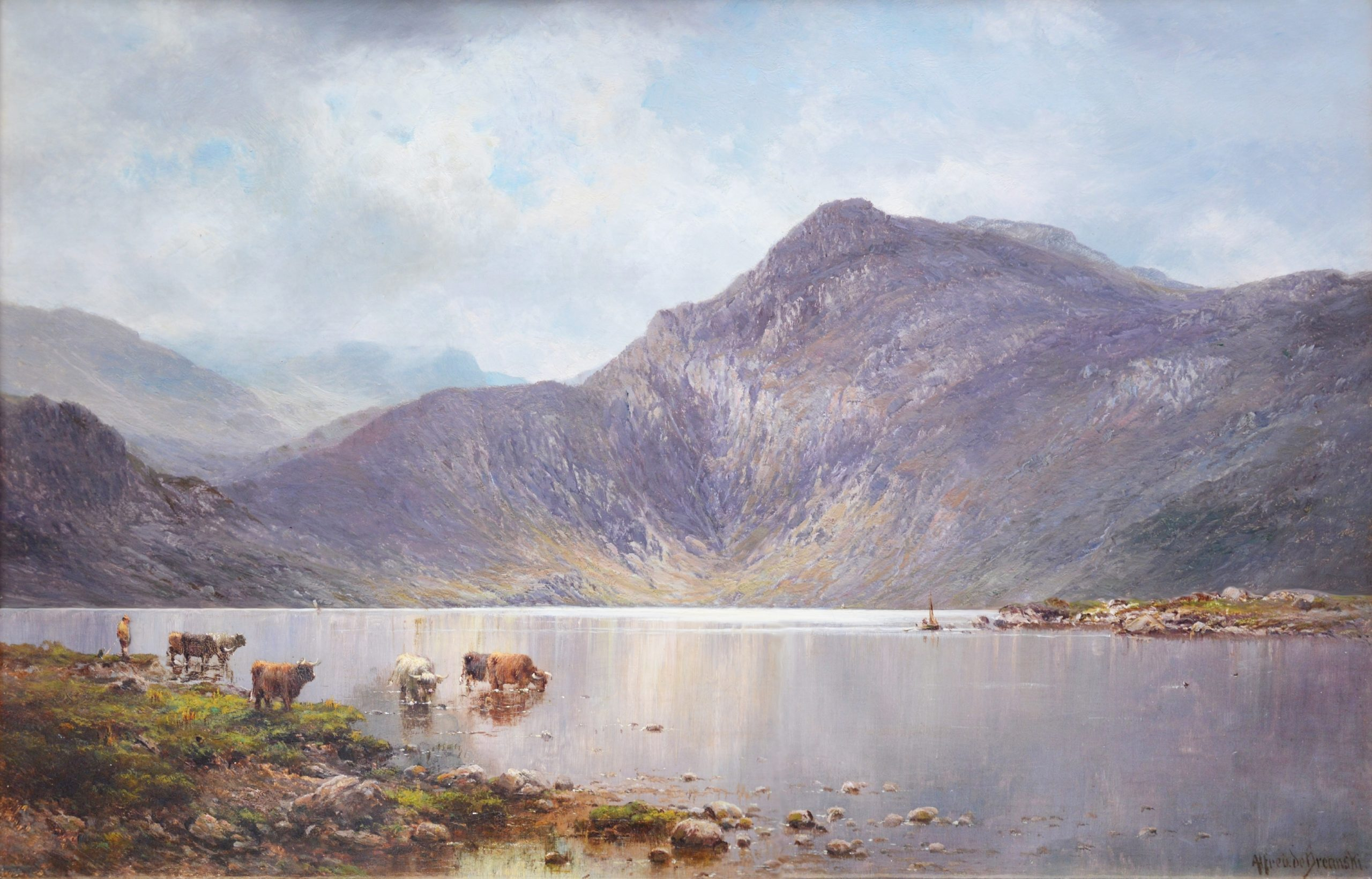 Lochnagar - 19th Century Landscape Oil Painting of the Scottish Highlands Image