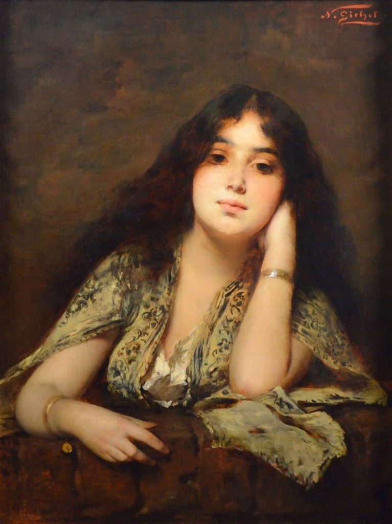 Arabian Beauty - 19th Century Orientalist Portrait Oil Painting Image