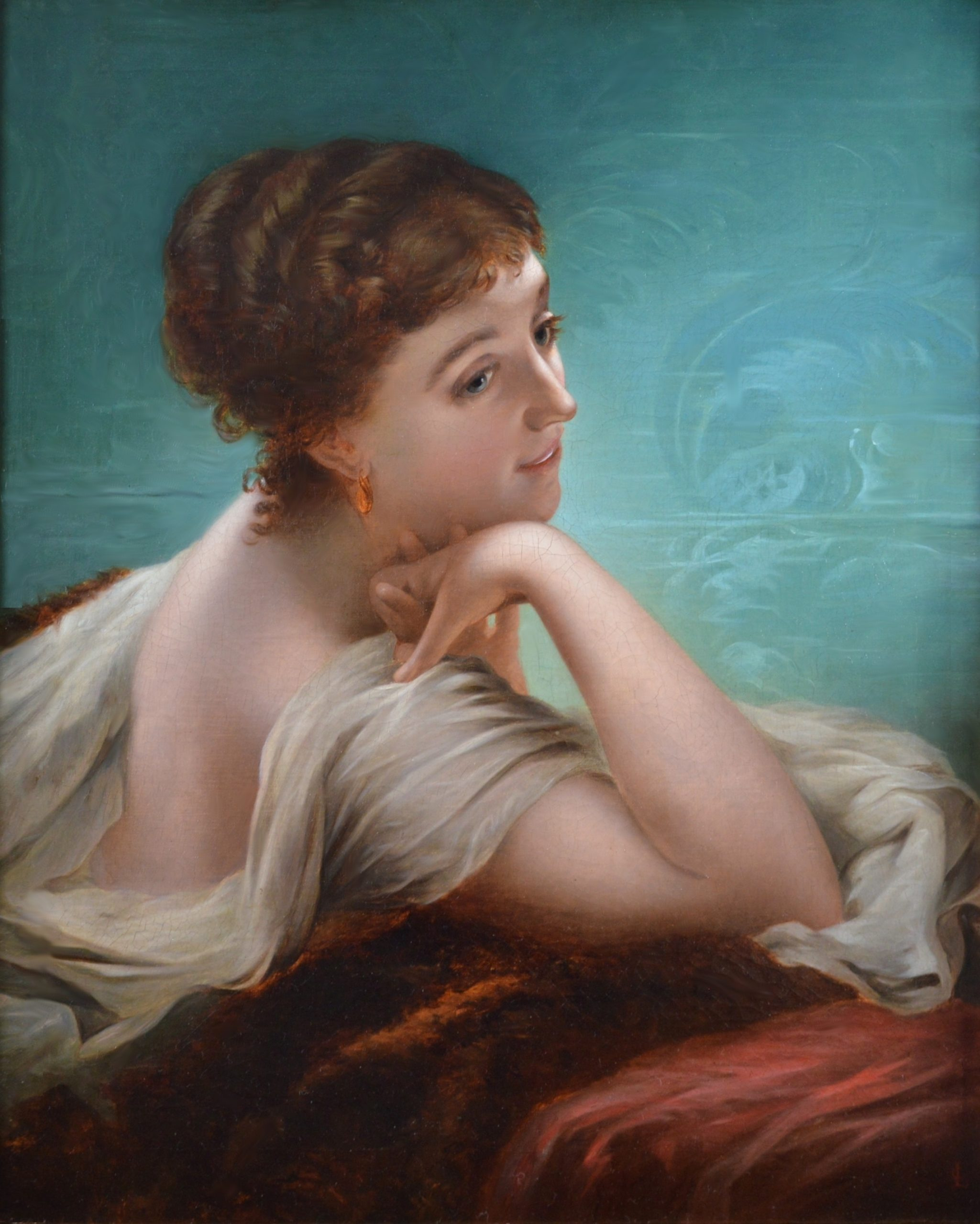 Daydreams - 19th Century Oil Painting Portrait of Victorian Society Beauty Image