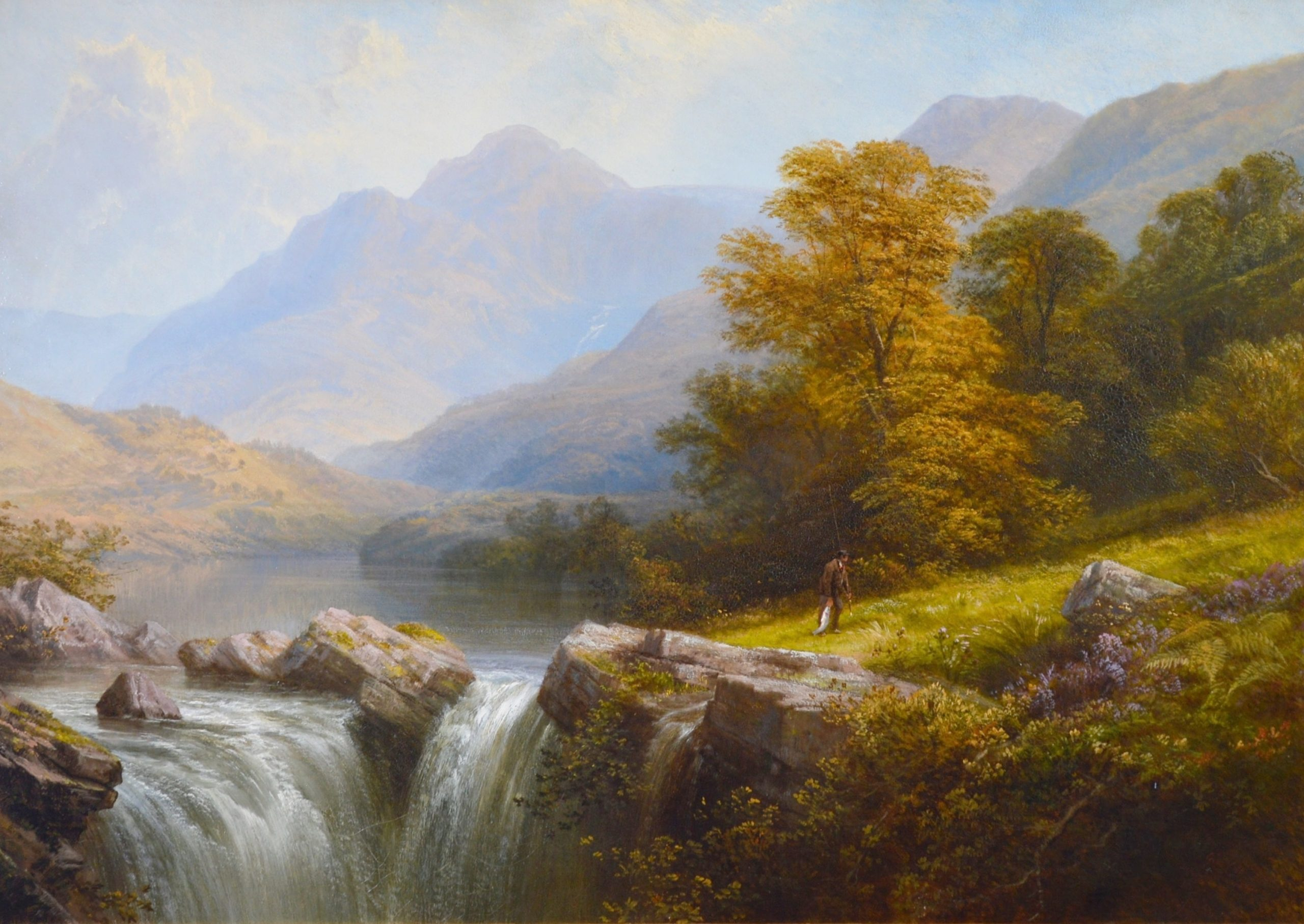 Langdale, Westmorland - Very Large 19th Century Exhibition Oil Painting 1879 Image