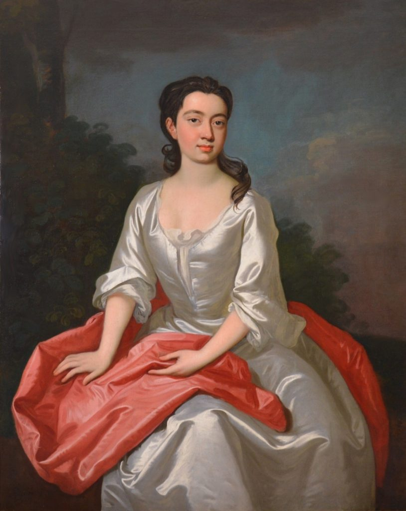 Portrait of Isabella Marshall - Very Large 18th Century Georgian Oil Painting Image