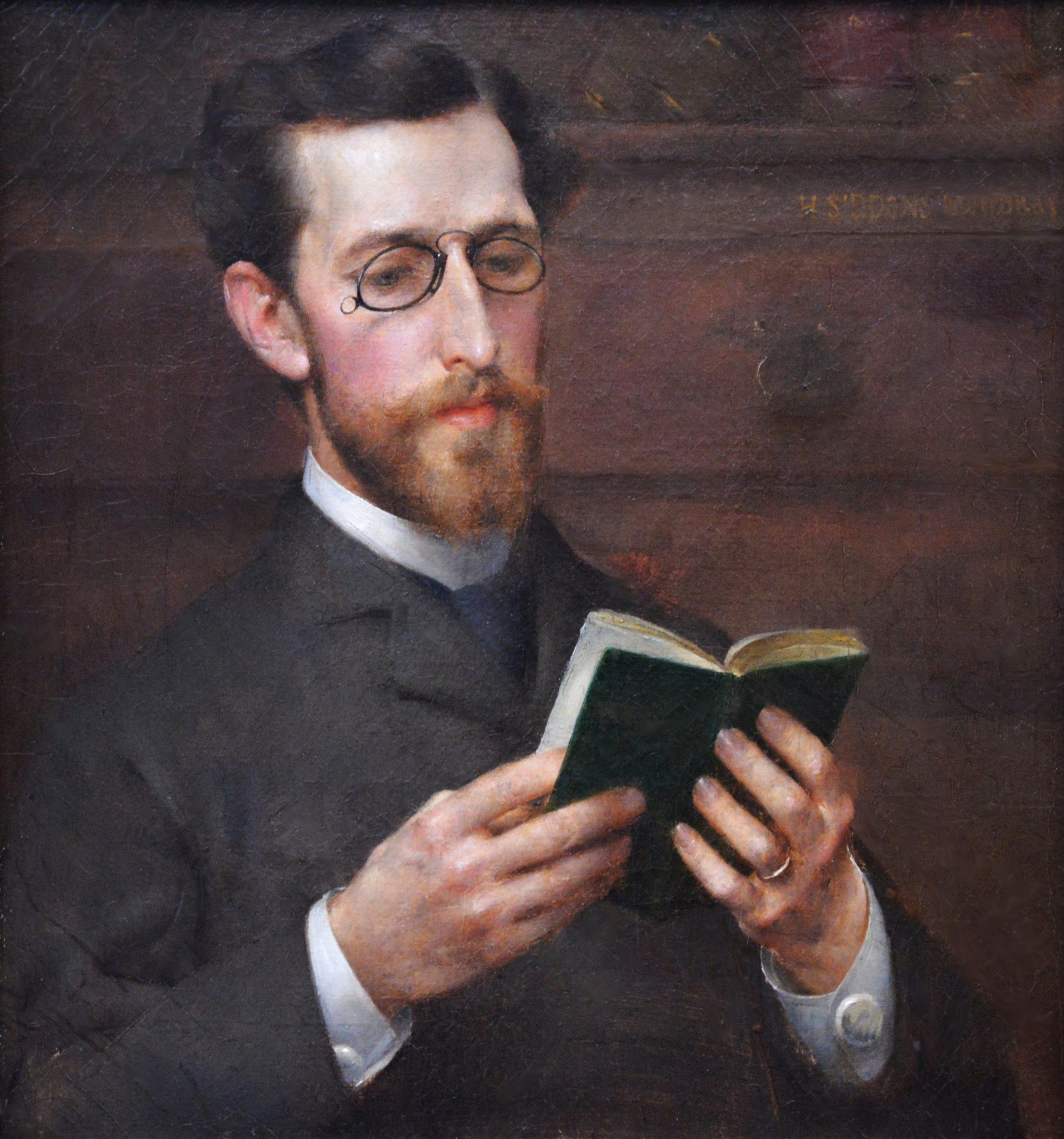 Augustus Saint-Gaudens - 19th Century Portrait Oil Painting Image